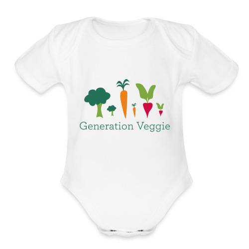 logo-simple - Organic Short Sleeve Baby Bodysuit
