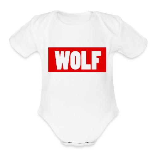 #Wolf - Organic Short Sleeve Baby Bodysuit