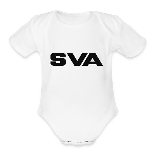 SVAlogoblack - Organic Short Sleeve Baby Bodysuit