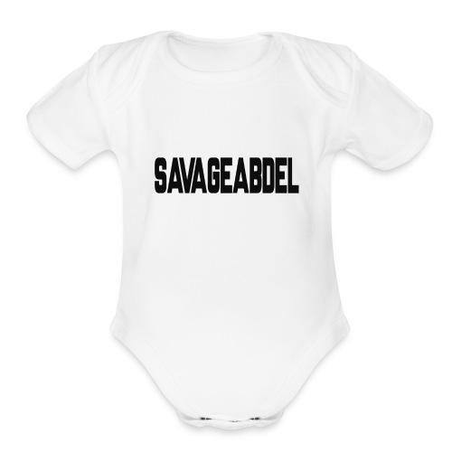 SAVAGEABDELBLACK - Organic Short Sleeve Baby Bodysuit