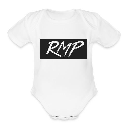 New Gray Logo RMP - Organic Short Sleeve Baby Bodysuit