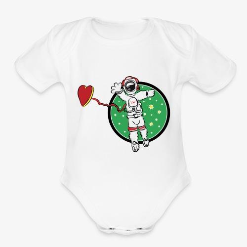SMR spaceman tshirt - Organic Short Sleeve Baby Bodysuit