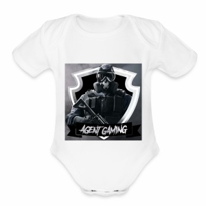 Agentgaming hoodie - Short Sleeve Baby Bodysuit