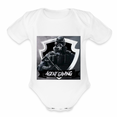 Agentgaming hoodie - Organic Short Sleeve Baby Bodysuit
