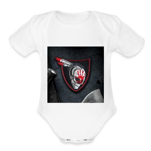 SavageRedHand - Organic Short Sleeve Baby Bodysuit