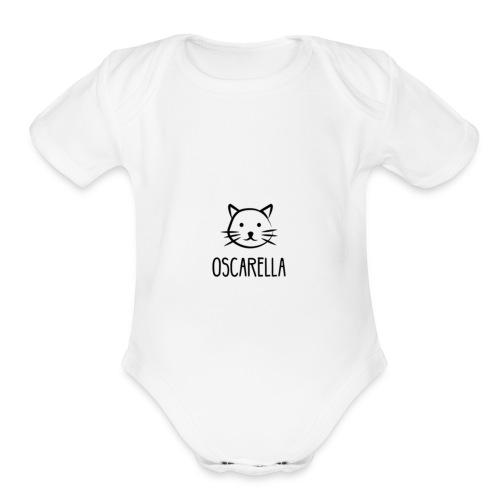 Cute Logo - Organic Short Sleeve Baby Bodysuit