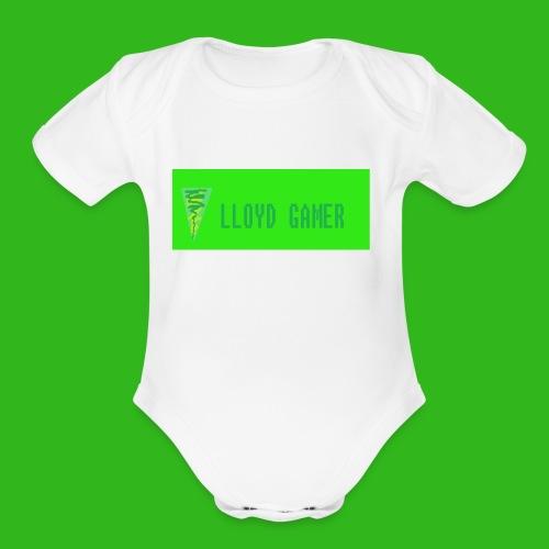 logo green - Organic Short Sleeve Baby Bodysuit