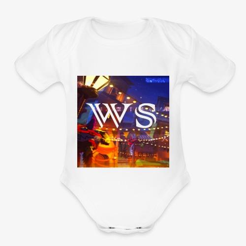 WindShot Logo 1 - Organic Short Sleeve Baby Bodysuit