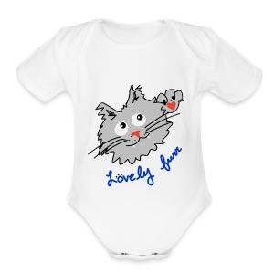 Original logo kitty - Short Sleeve Baby Bodysuit