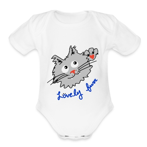 Original logo kitty - Organic Short Sleeve Baby Bodysuit