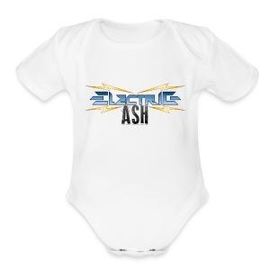 Electric Ash Logo - Main - Transparent Background - Short Sleeve Baby Bodysuit