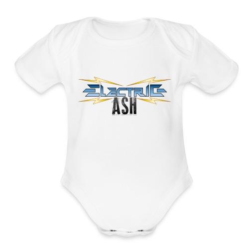 Electric Ash Logo - Main - Transparent Background - Organic Short Sleeve Baby Bodysuit
