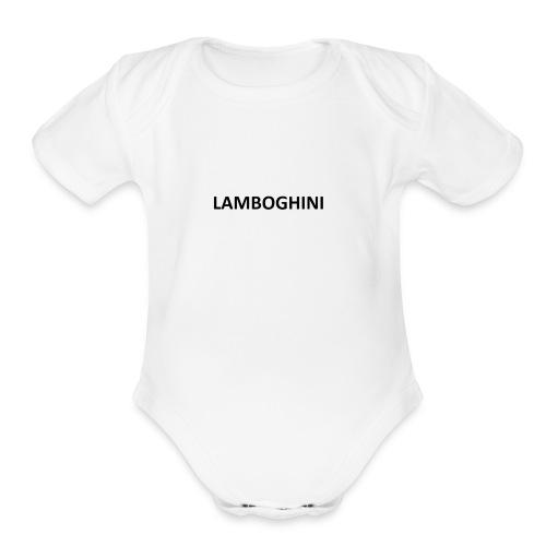 LAMBOGHINI SHIRT - Organic Short Sleeve Baby Bodysuit