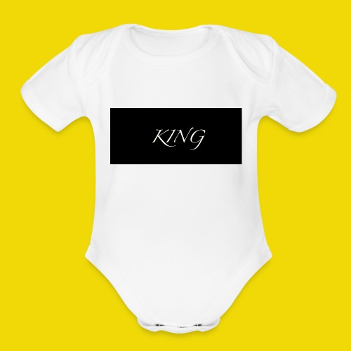KING - Organic Short Sleeve Baby Bodysuit