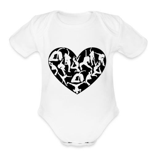 Dance Love - Organic Short Sleeve Baby Bodysuit