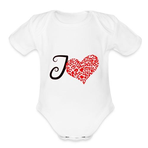 I Love... - Organic Short Sleeve Baby Bodysuit