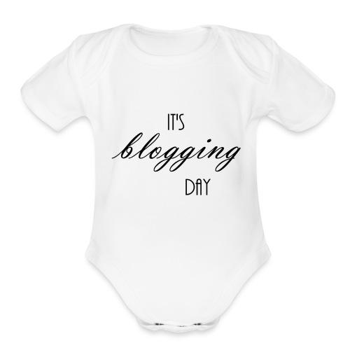 Blog Day - Organic Short Sleeve Baby Bodysuit
