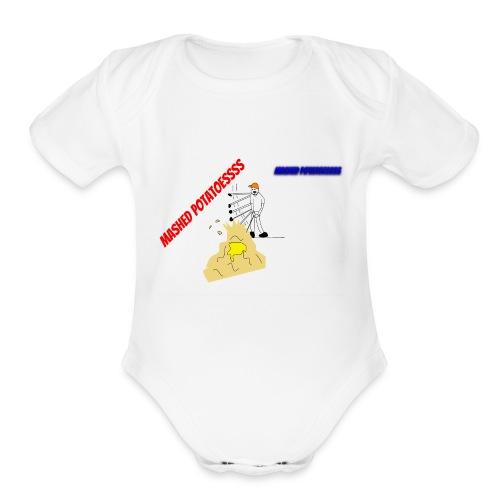 MASHEDDDD POTATOESSS - Organic Short Sleeve Baby Bodysuit