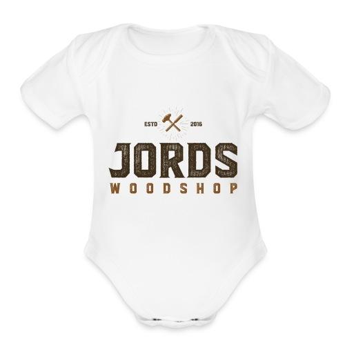 New Age JordsWoodShop logo - Organic Short Sleeve Baby Bodysuit
