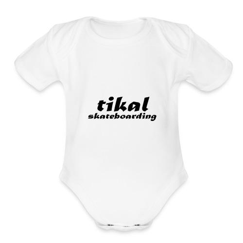 tikal brand logo - Organic Short Sleeve Baby Bodysuit