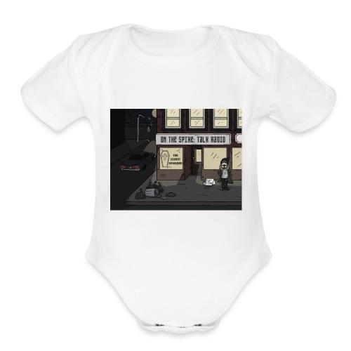 Corner Brad - Organic Short Sleeve Baby Bodysuit