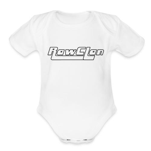 The Clan B&W - Organic Short Sleeve Baby Bodysuit
