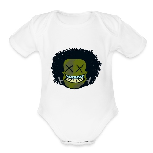 DeadHeadOG_-_messyhead - Organic Short Sleeve Baby Bodysuit