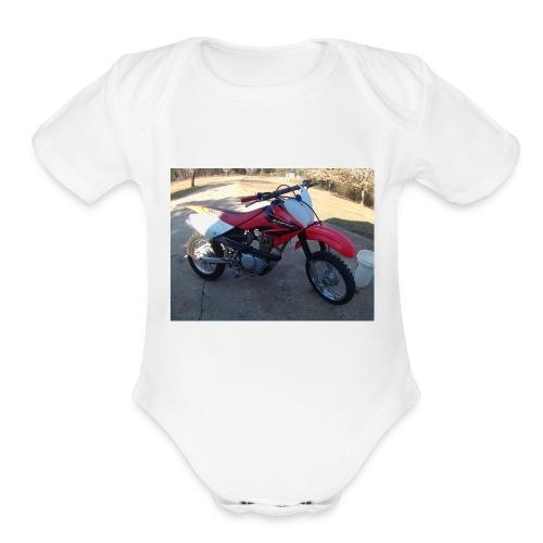 P1000013 - Organic Short Sleeve Baby Bodysuit