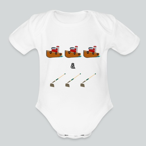 Boats and Hoes - Organic Short Sleeve Baby Bodysuit