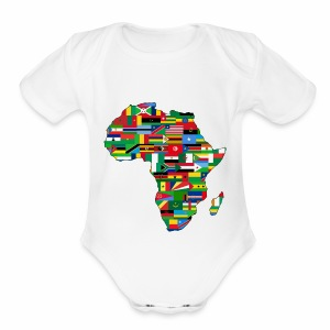AfricaMap - Short Sleeve Baby Bodysuit