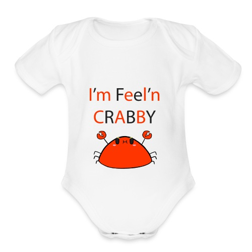 Crabby - Organic Short Sleeve Baby Bodysuit