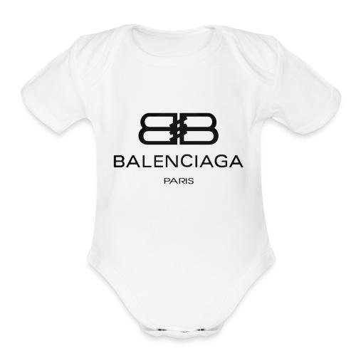 Balenciagax - Organic Short Sleeve Baby Bodysuit