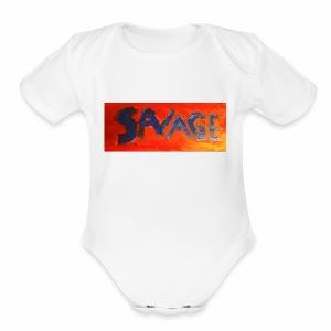 Savage - Short Sleeve Baby Bodysuit