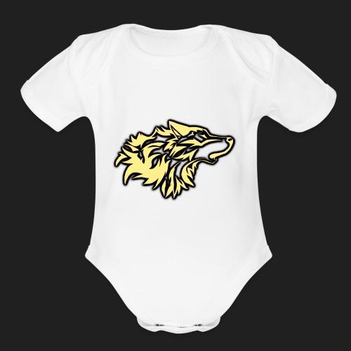 wolfepacklogobeige png - Organic Short Sleeve Baby Bodysuit