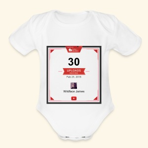 My youtube channel 30 uploads achievement - Short Sleeve Baby Bodysuit