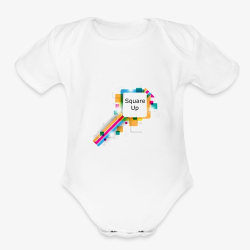 Square Up - Organic Short Sleeve Baby Bodysuit