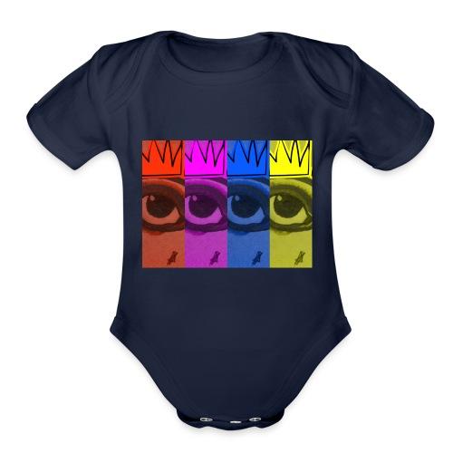 Eye Queen - Organic Short Sleeve Baby Bodysuit