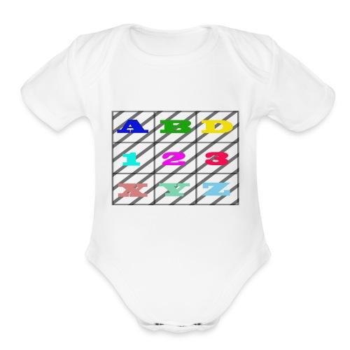 kids abc teaching - Organic Short Sleeve Baby Bodysuit