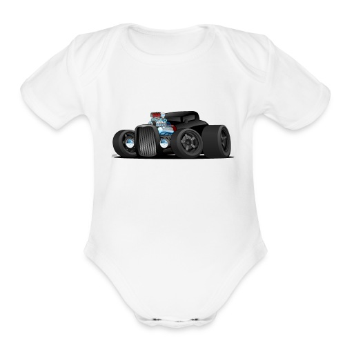Custom Black Hot Rod Coupe - Organic Short Sleeve Baby Bodysuit