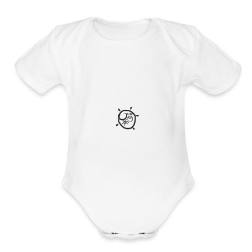 Super moon - Organic Short Sleeve Baby Bodysuit
