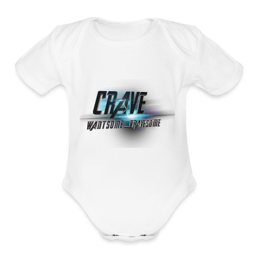 NEW_LOGO_CRAVE - Organic Short Sleeve Baby Bodysuit