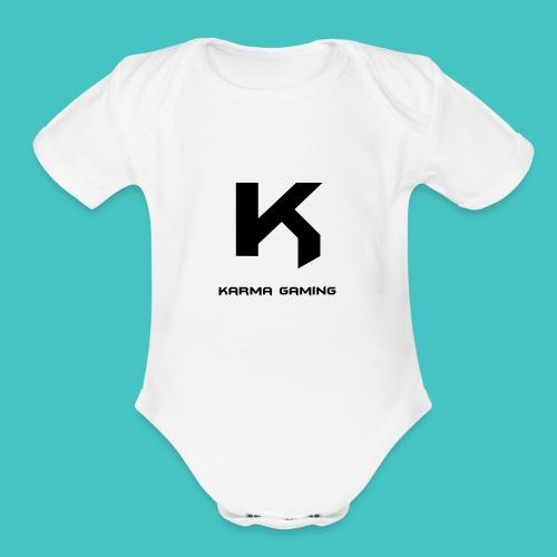 karma_gaming_logo - Organic Short Sleeve Baby Bodysuit