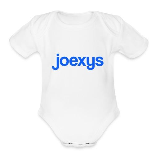 joexys_blue - Organic Short Sleeve Baby Bodysuit