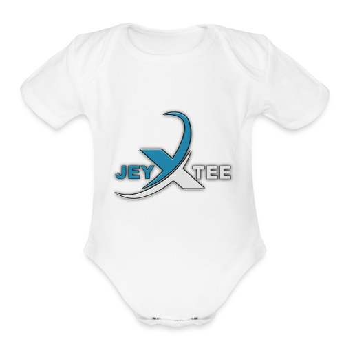 JeyXTee LOGO - Organic Short Sleeve Baby Bodysuit
