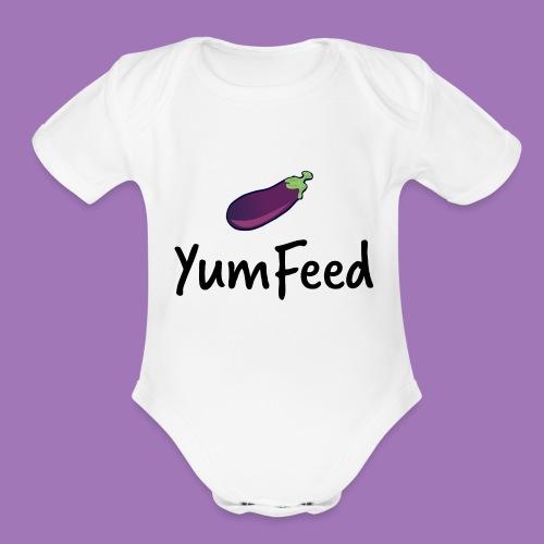 YumFeed logo - Organic Short Sleeve Baby Bodysuit