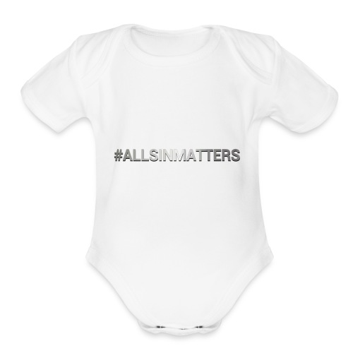 All Sin Matters - Organic Short Sleeve Baby Bodysuit