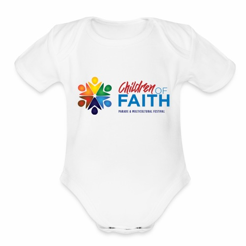 Children of Faith Logo - Organic Short Sleeve Baby Bodysuit