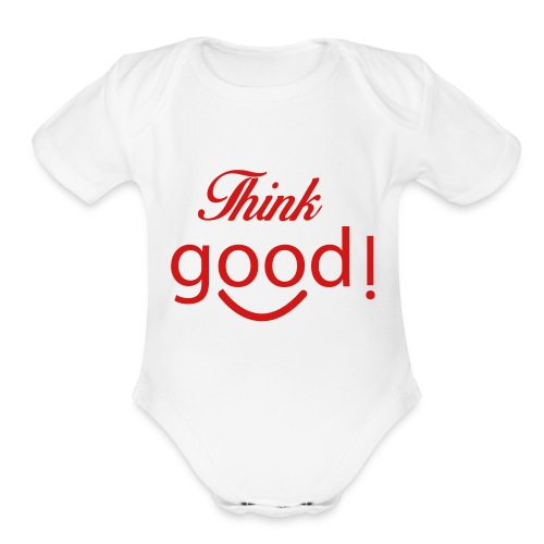 its a image about positivity. - Organic Short Sleeve Baby Bodysuit