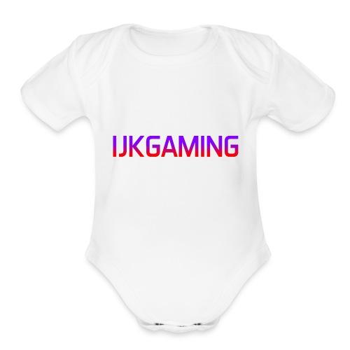 JK - Organic Short Sleeve Baby Bodysuit