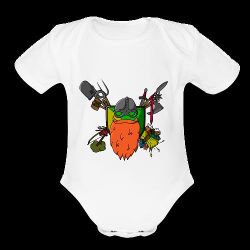 DodBeard - Organic Short Sleeve Baby Bodysuit